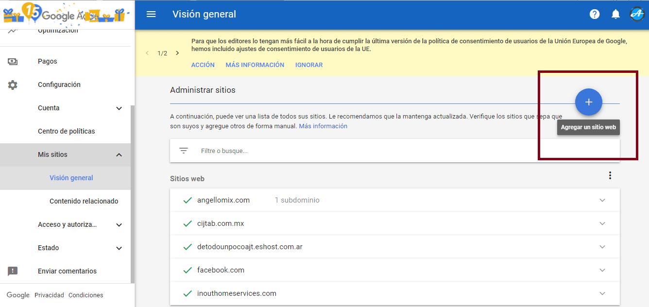 agregar un sitio web a google adsense 2019