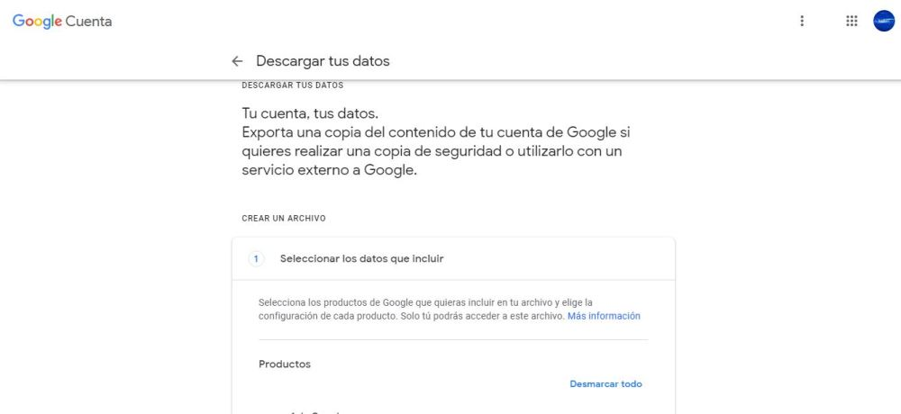 eliminar cuenta google 2 min