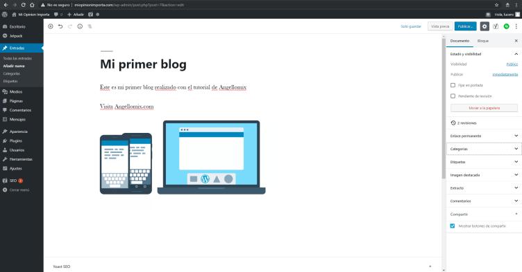 mi primer blog 2 min