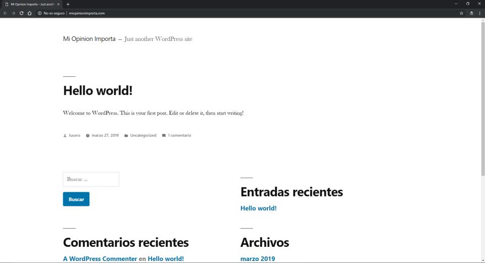 mi primera pagina con wordpress min