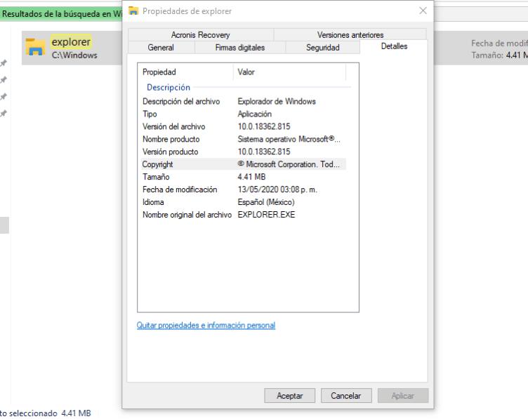 version de windows 10 instalada en un disco duro externo conectado por usb a otro equipo