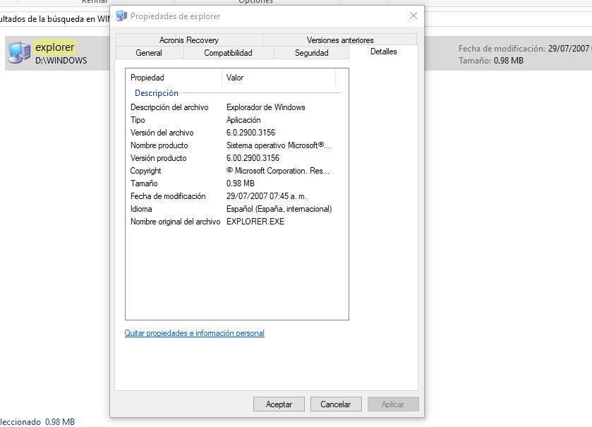 version de windows XP instalada en un disco duro externo conectado por usb a otro equipo
