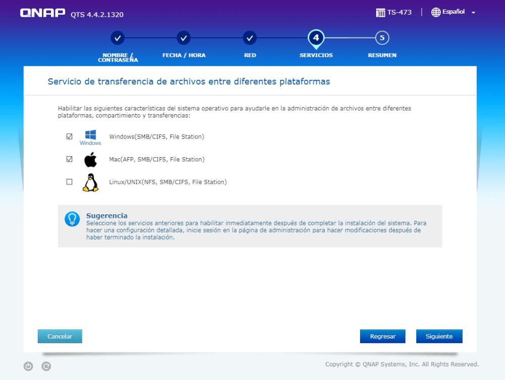 Que sistema operativo administrara nuestro nas