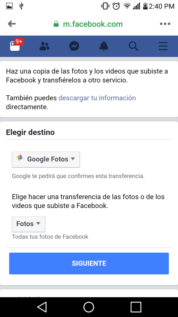 8 transferir fotos y videos de facebook a google fotos facil paso a paso