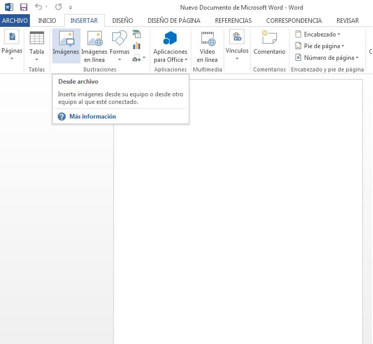 word insertar imagenparaconvertir a pdf