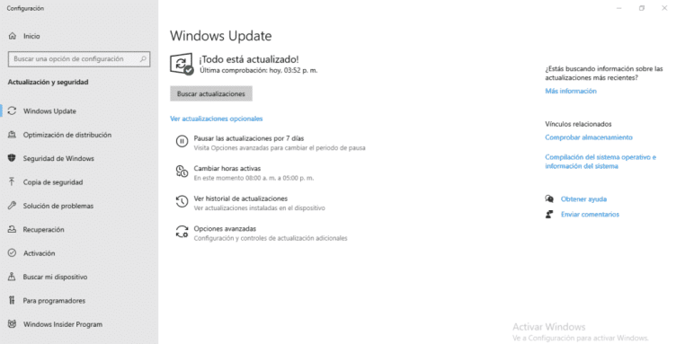 Solución a error de Windows update