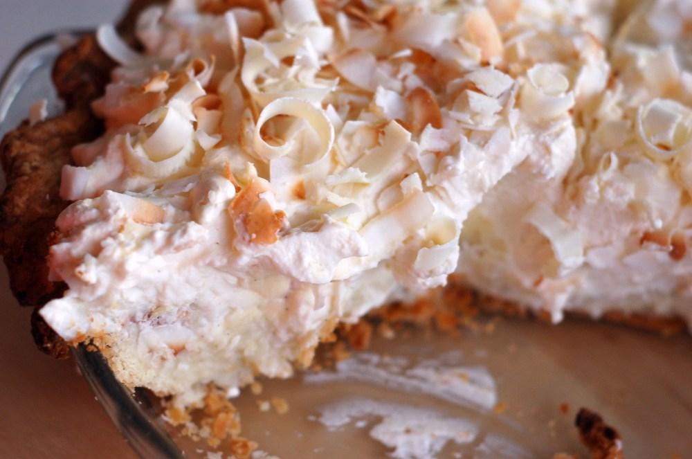 Triple Coconut Cream Pie (3/4)