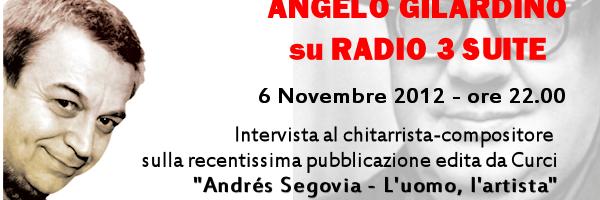 Angelo Gilardino su Radio 3 Suite