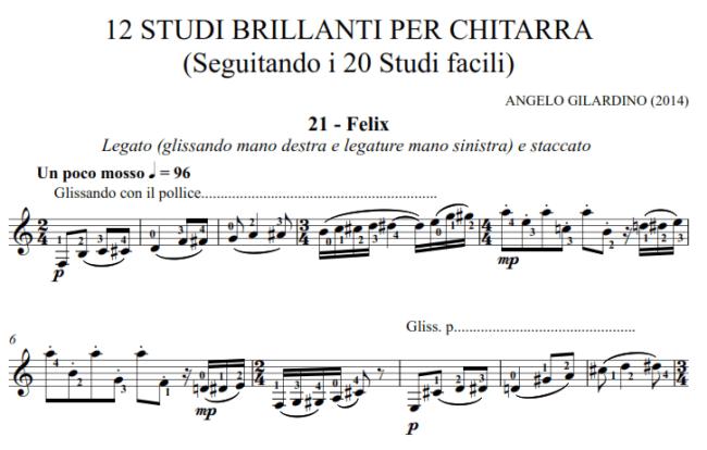 Studi brillanti Gilardino