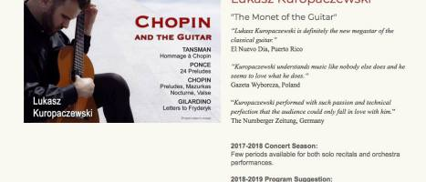 Chopin and the guitar