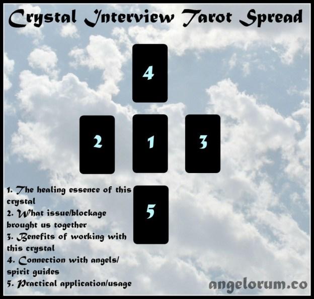Crystal Interview Tarot Spread