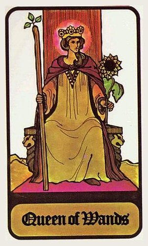 Queen of Wands from the Hoi Polloi Tarot