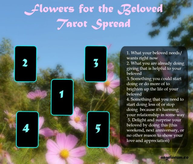 flowers for the beloved tarot spread