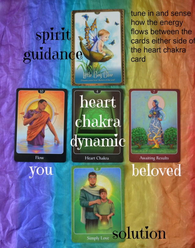 heart chakra relationship spread with the psychic tarot oracle and the wild wisdom of the faery oracle