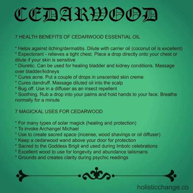 cedarwood health benefits and magickal uses