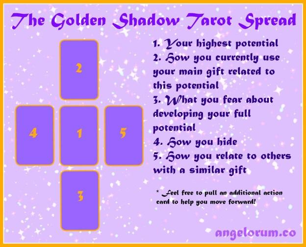 golden shadow tarot spread