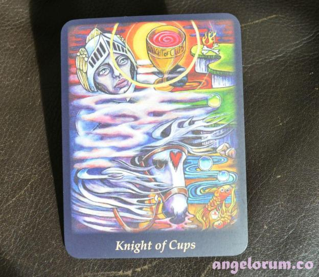 Knight of Cups from the Bonefire Tarot