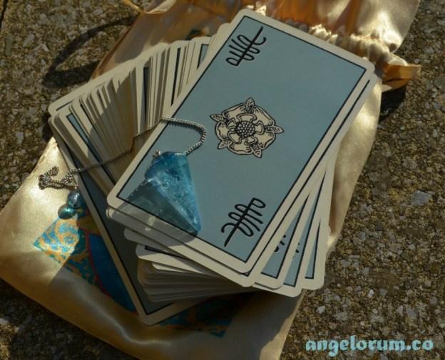Aqua Aura Pendulum and Tarot Cards