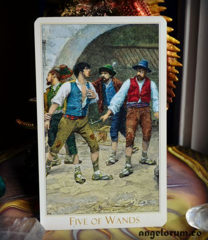Five of Wands Victorian Romantic Tarot
