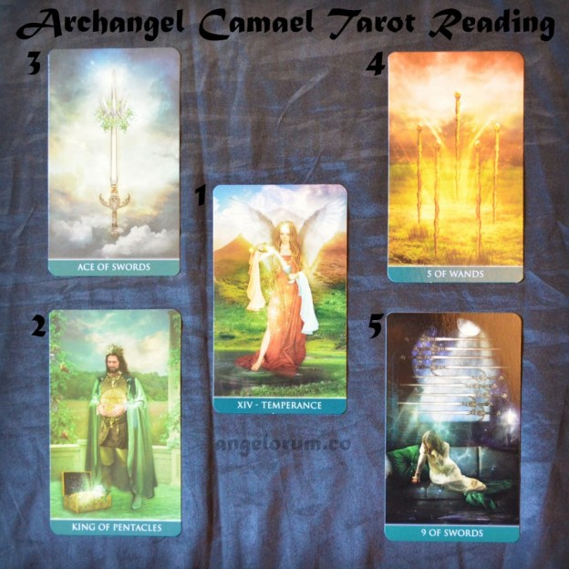 Archangel Camael Tarot Spread Sample Reading with the Thelema Tarot