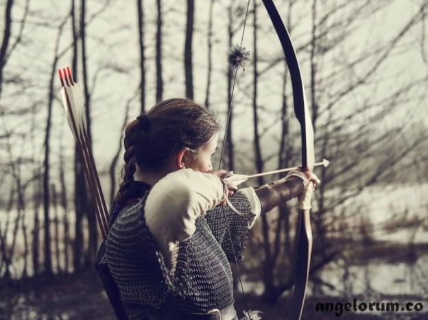 Female Archer in chain mail