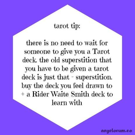 1. tarot tip superstition