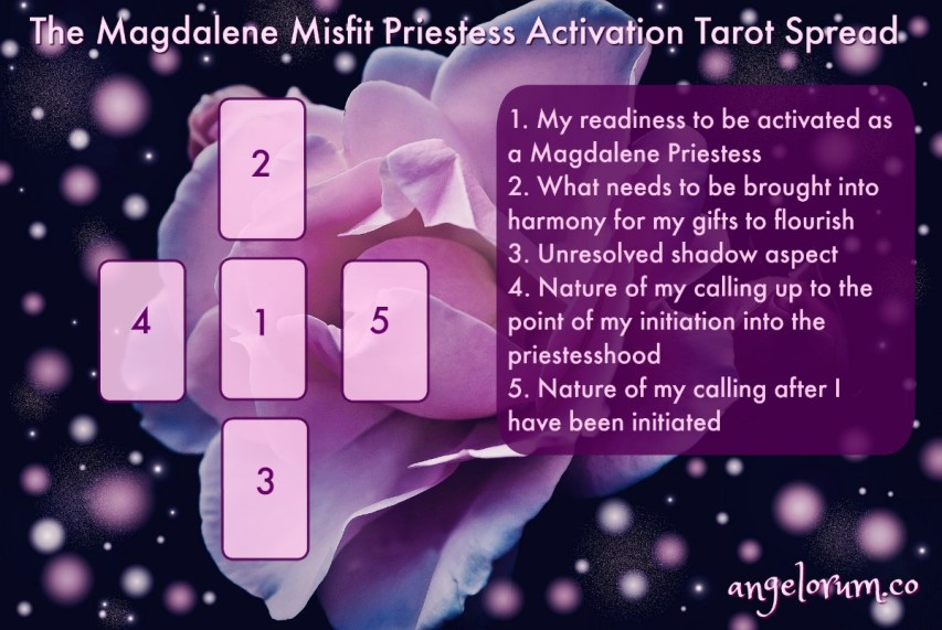 The Magdalene Misfit Priestess Activation Tarot Spread