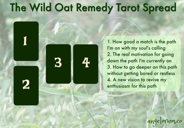 wild oat remedy tarot spread