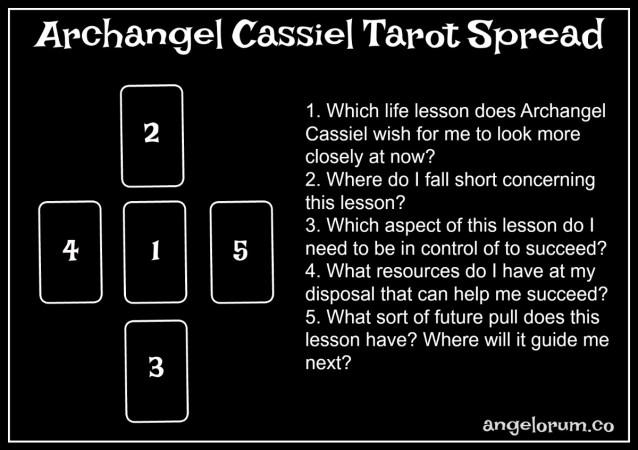 archangel cassiel tarot spread