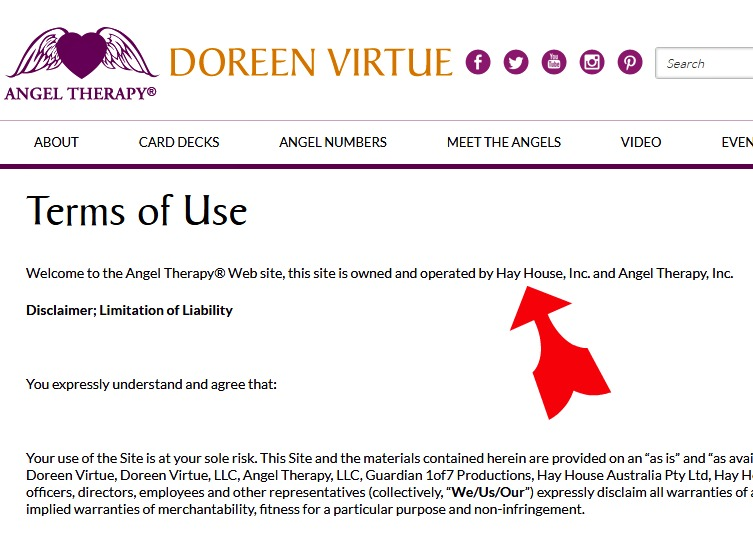 angel therapy inc doreen virtue and hay house inc scam