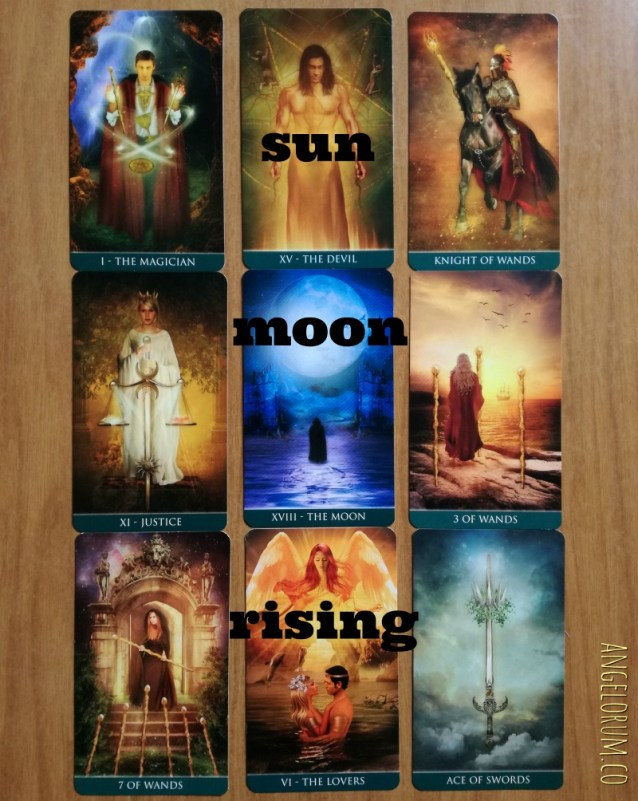 astrology tarot sun moon rising sign thelema tarot sample reading