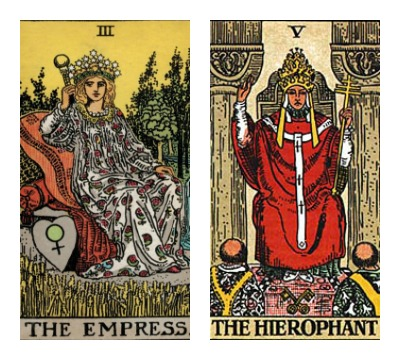 The Empress and The Hierophant Tarot