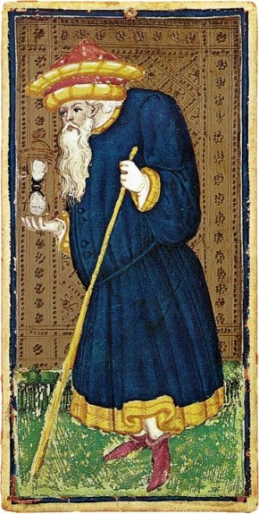 The Tarot Hermit Visconti Sforza