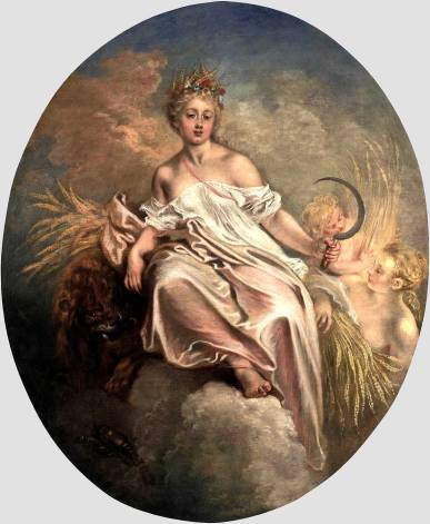 Roman Goddess Ceres by Antoine Watteau