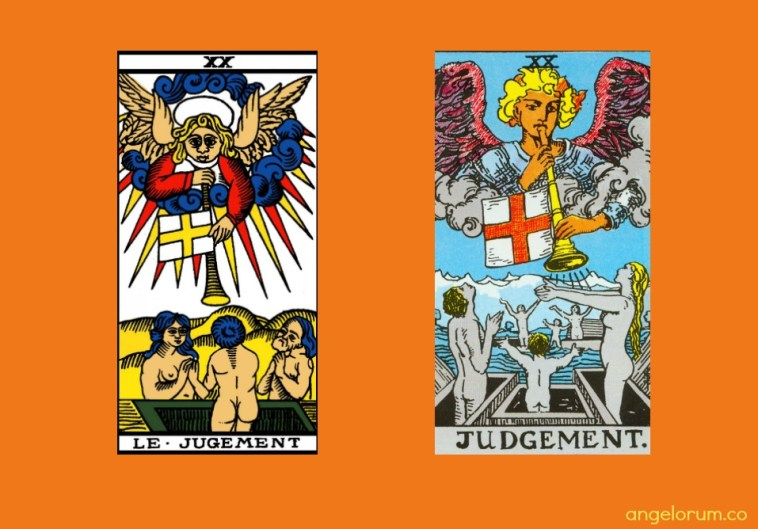 Tarot Judgement Card Marseille and RWS