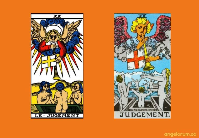 Tarot Judgement Card Marseille and RWS