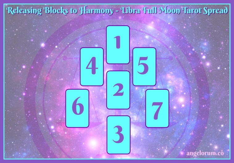 libra full moon tarot spread for releasing blocks to harmony