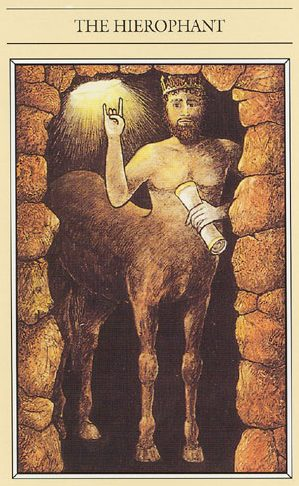 Chiron Wounded Healer in the Mythic Tarot Hierophant