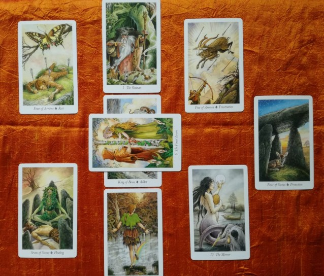 Beltane Full Moon Tarot Spread Sample Reading with the Wildwood Tarot