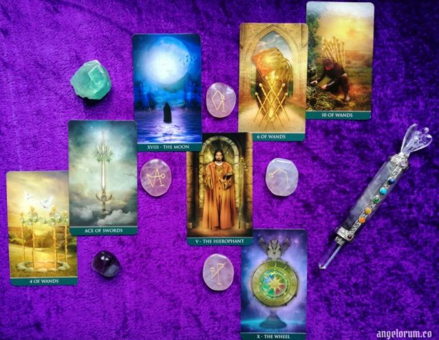 Phoenix Tarot Spread Sample Reading with the Thelema Tarot