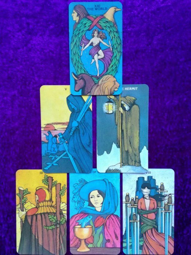Capricorn Full Moon Tarot Spread Sample Reading