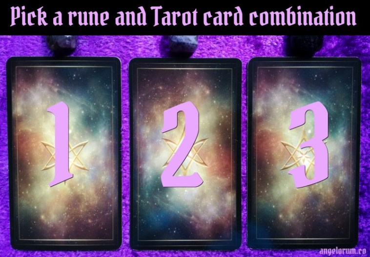 Pick a rune and tarot card combo for the waxing moon