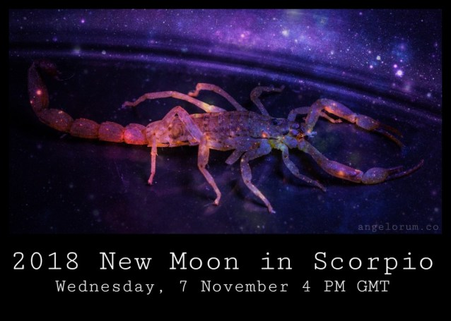 2018 New Moon in Scorpio