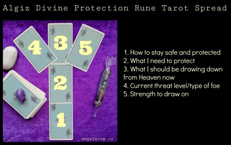 Algiz Divine Protection Rune Tarot Spread