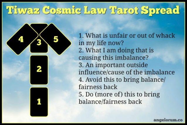 Tiwaz Cosmic Law Tarot Spread