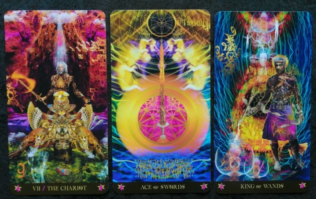 The Chariot Ace of Swords King of Wands Starman Tarot