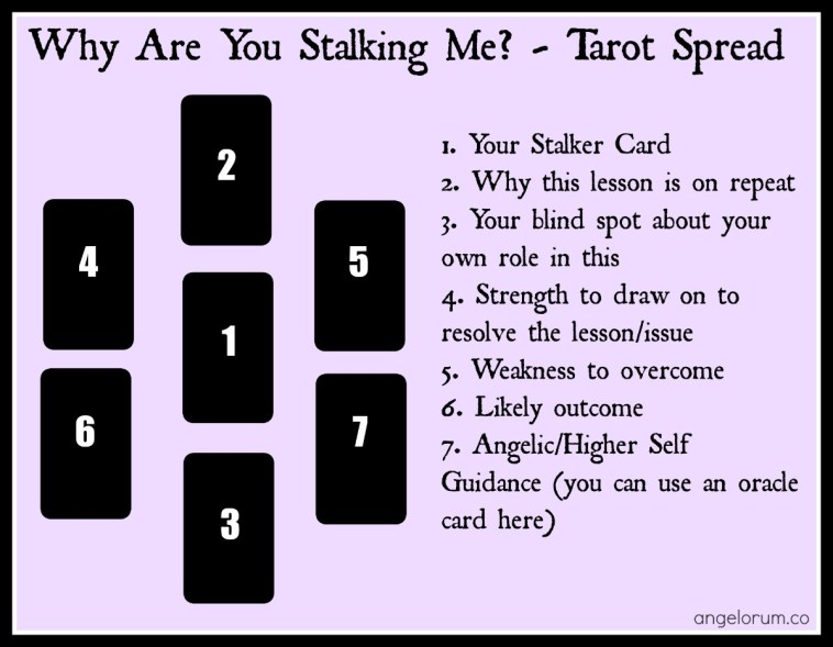 a stalker card tarot spread