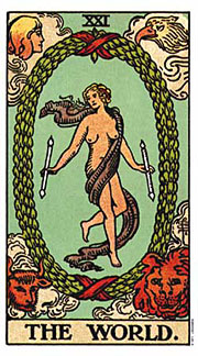 22 Daily Intentions Tarot The World