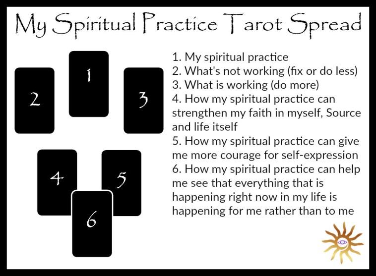 my spiritual practice tarot spread