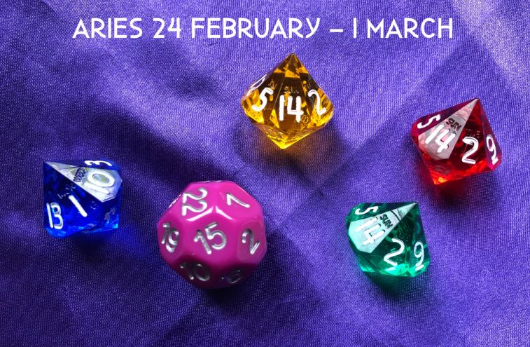 Week Ahead Dice Tarotscopes Aries 24 Feb